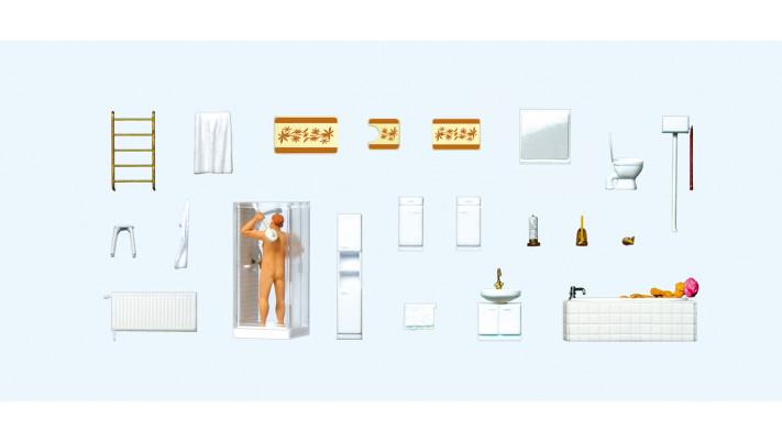 couple dans salle de bain , éléments de salle de bains#