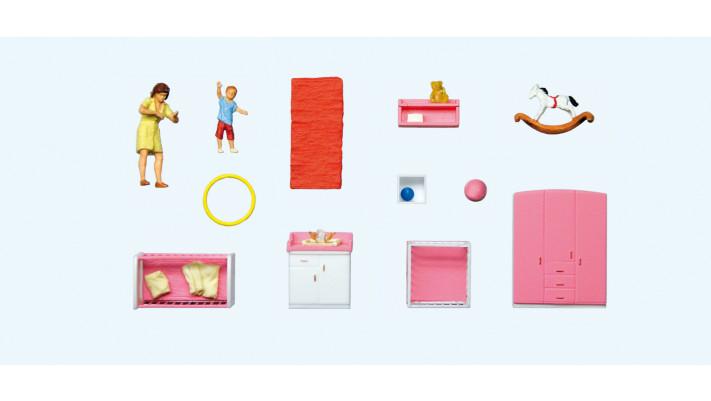 maman changeant les couches , mobilier de chambre d'enfant#