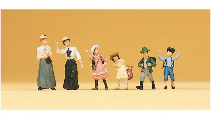 mères et enfants en 1900
