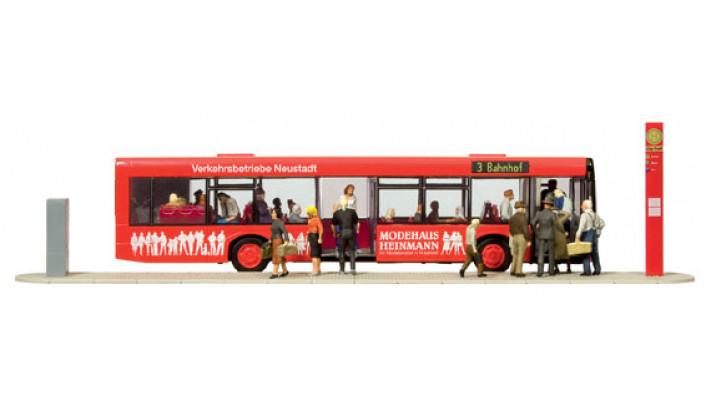 personnes avec bus
