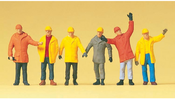 ouvriers en vêtementsde protection