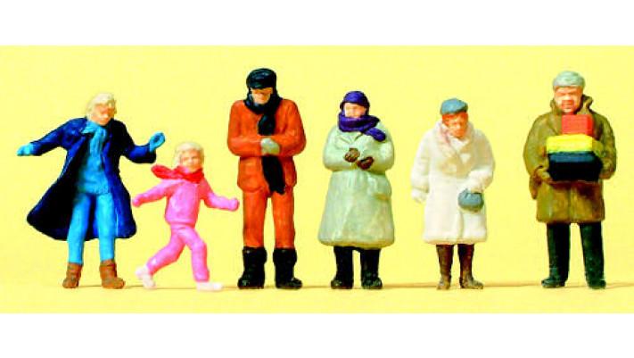 passants, vêtements d'hiver