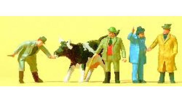 personnages + une vache