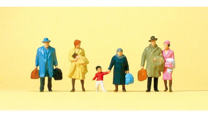 voyageurs  marchant