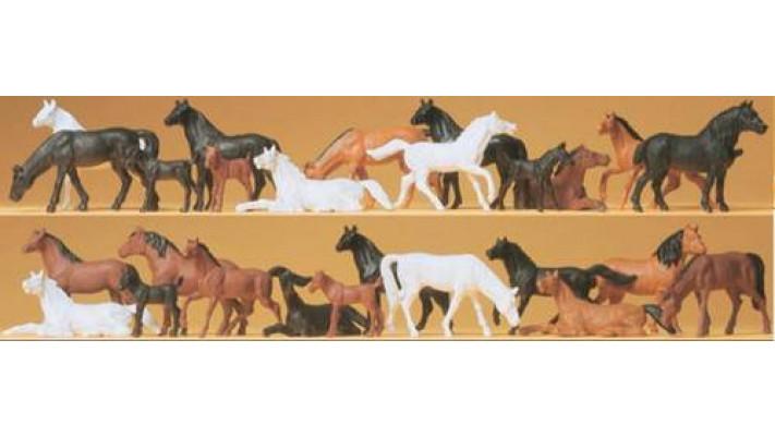 chevaux 26 pieces peinture simplifi