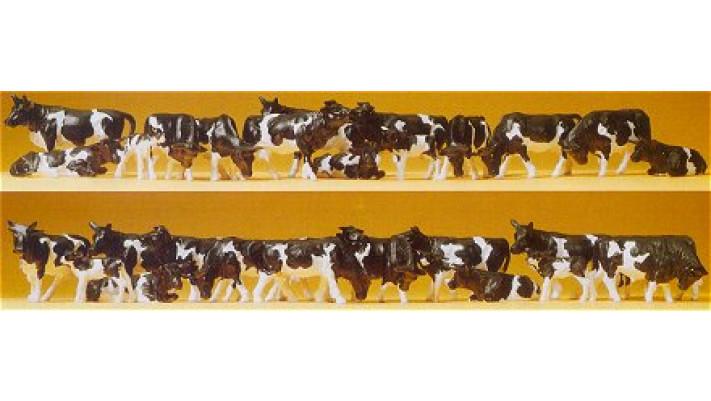 vaches noires et blanches 30 pieces