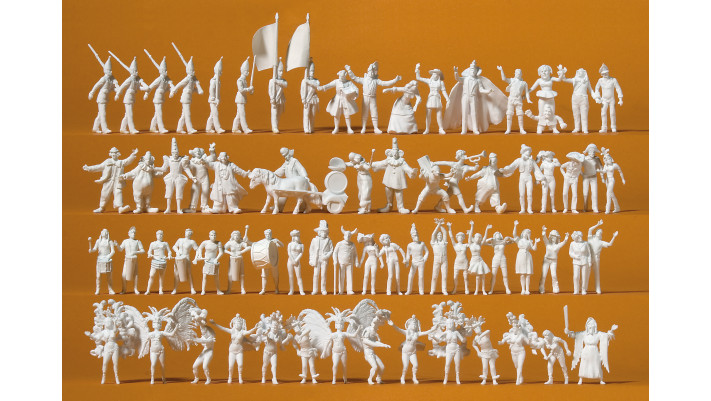 carnaval , 68 figurines à peindre#