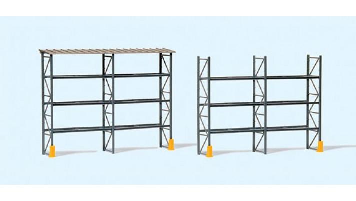 rack pour 48 pallettes industielles avec toit