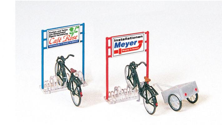 porte-bicyclette, bicyclettes, remorque, en kit