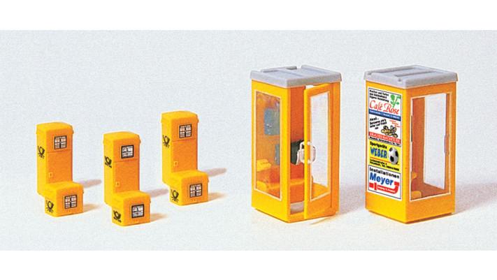 boîtes à lettres, cabines téléphoniques en kit
