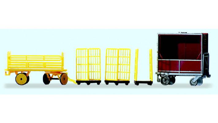 chariots de transport de la poste allemande