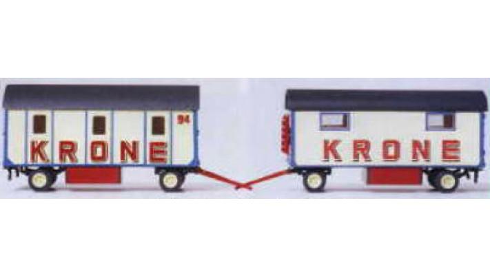 caravane d'habitation a 3 compartiments