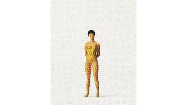 femme en maillot de bain,  debout