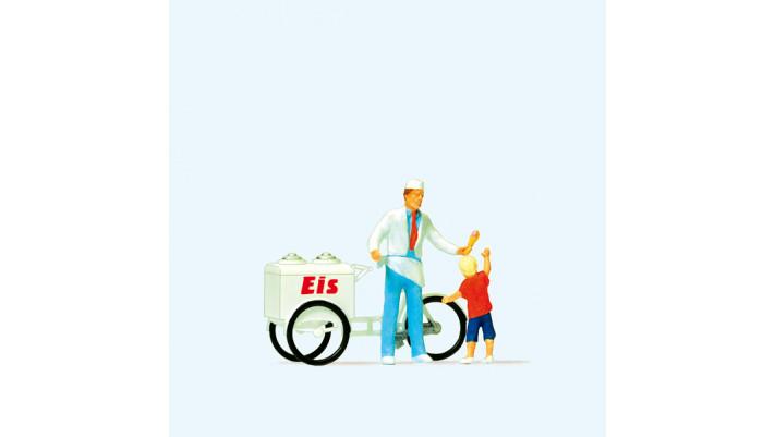 vendeur de glaces et enfants