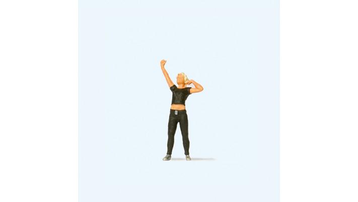 femme au stretching#