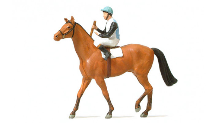 jockey sur un cheval