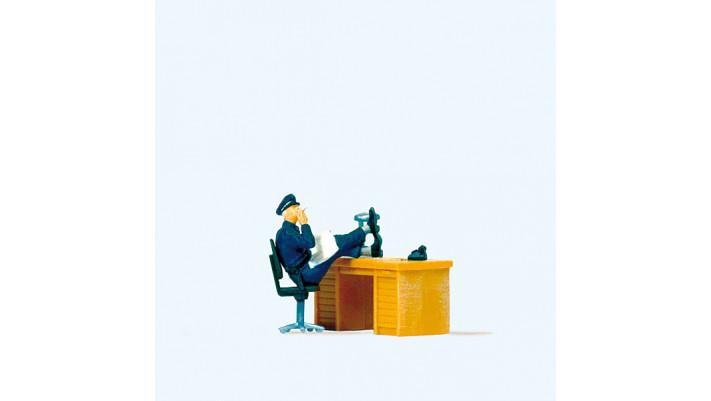 policier assis usa