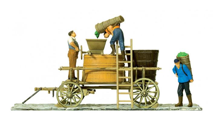 chariot de vigneron à l'arrêt