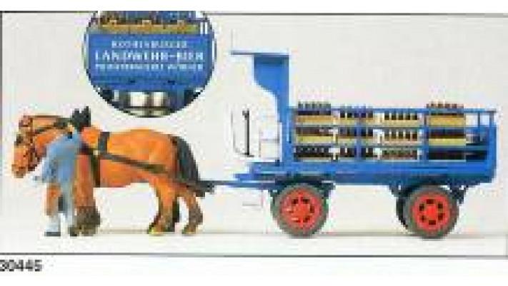 wagon bière ''landwehr-beer''+chevaux