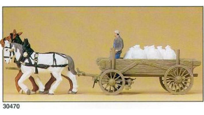 chariots avec sacs de farine