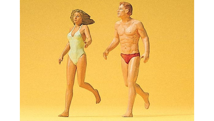 couple a la plage, jogging