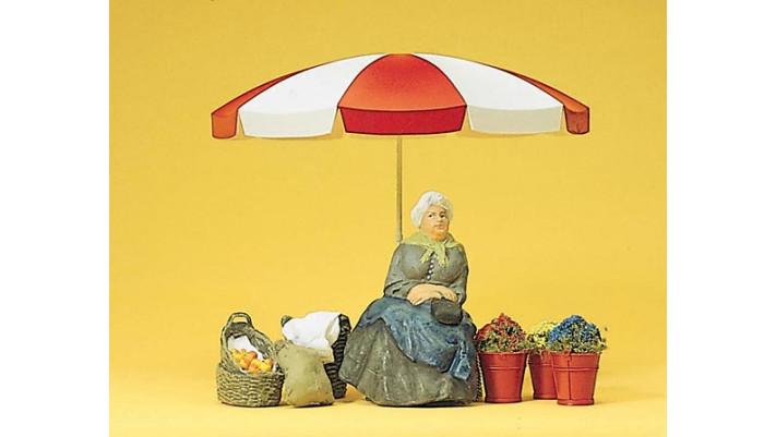 vendeuse de parasols