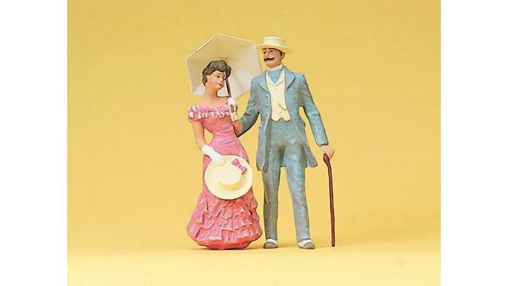 couple avec ombrelle