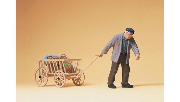 fremier trainant un chariot