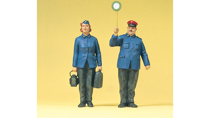 personnel de chemin de fer allemand