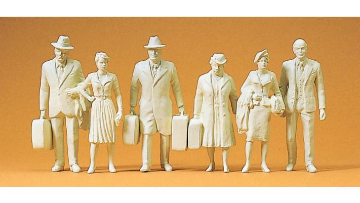 voyageurs non peints 6 figurines