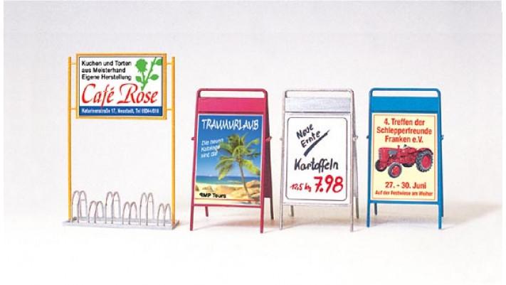 porte-bicyclette, panneaux pub. , non peints