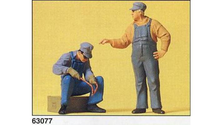 ouvriers de voie, americains