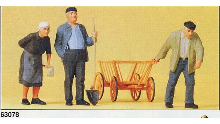fermiers avec remorque