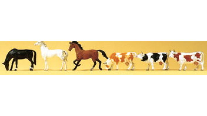 chevaux vaches