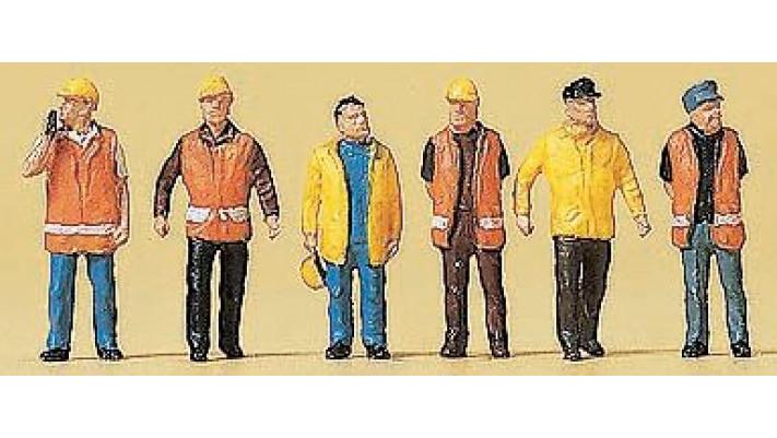 ouvriers en combinaison de protection