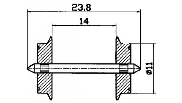 AC Radsatz 11mm (1 Paar)  f.2a
