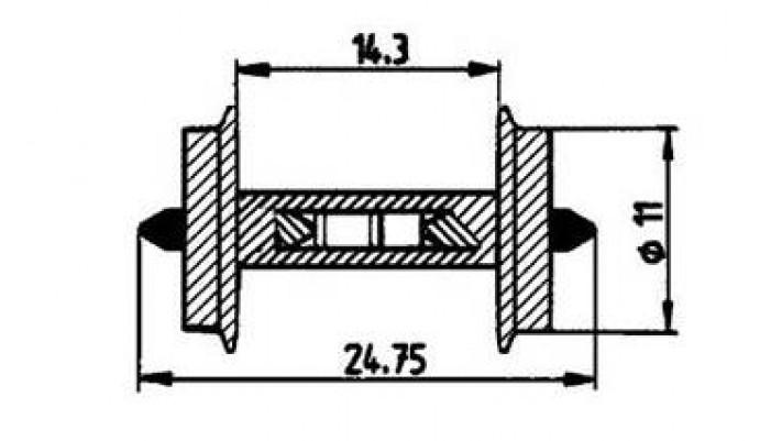 Radsatz 11mm f.Besetztmeld. 1