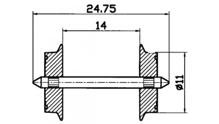 Radsatz H0 AC 11mm        1 Pa