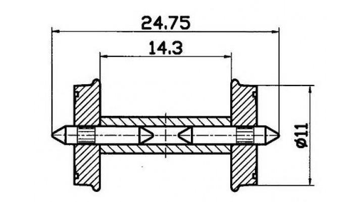Radsatz RP25 get.Ach.11mm