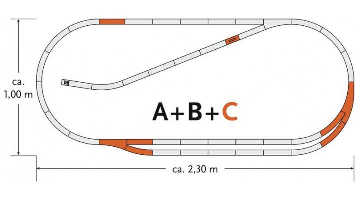 Complément rail de Coffret de départ : C