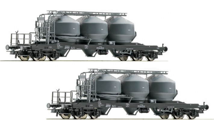 SET 2 WAGONS SILOS OBB