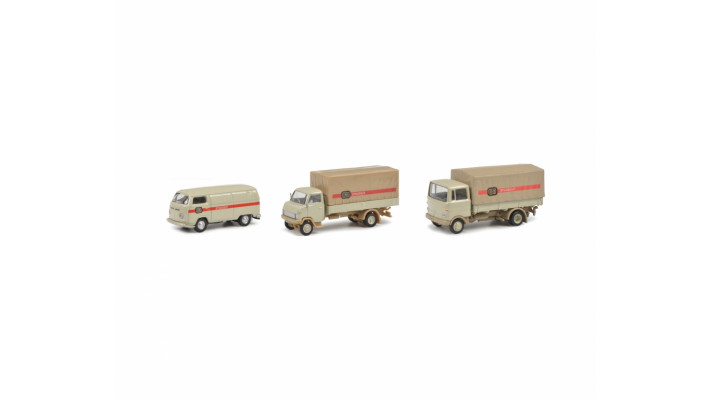 Schuco  H0 MERCEDES-BENZ LP608 Set de 3 - 1/87