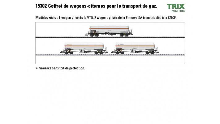 Gaskesselwagen-Set SNCF