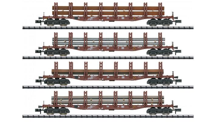 Güterwagen-Set  Stahltransport