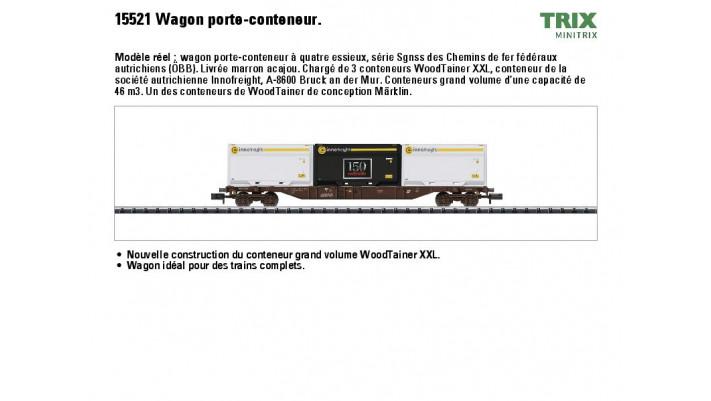 Container-Tragwagen m.3 Woodt