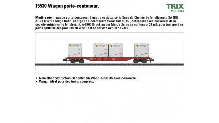 Container-Tragwagen mit.4 Woo