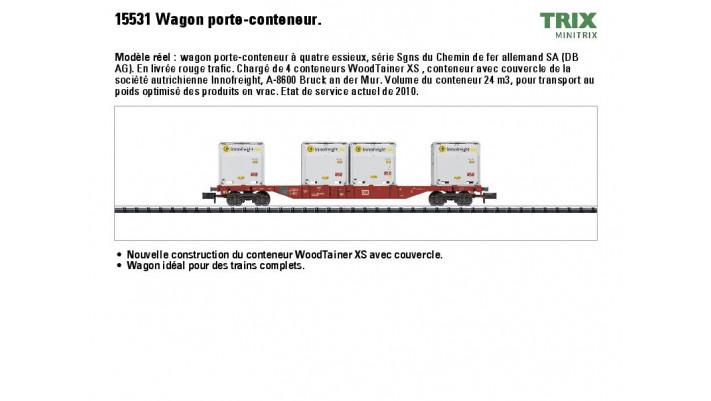 Container-Tragwagen m.4 Woodt