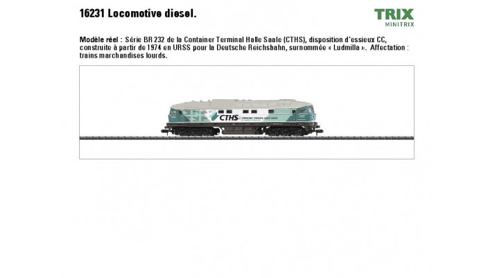 Diesellok BR 232 CTHS