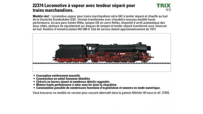 Locomotive vapeur   BR 042 , DB, Ep. IV, Sonore