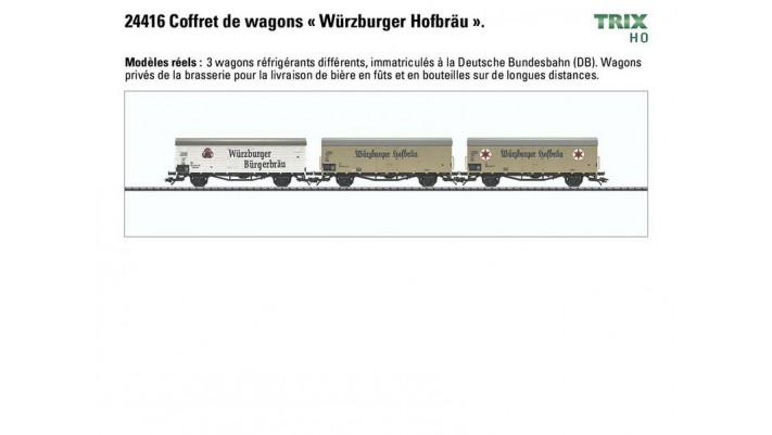 Coffret de wagons « Würzburger Hofbräu ».